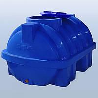 Пластиковый бак (емкость  горизонтальная) RG 750 Р/ребро двухслойная