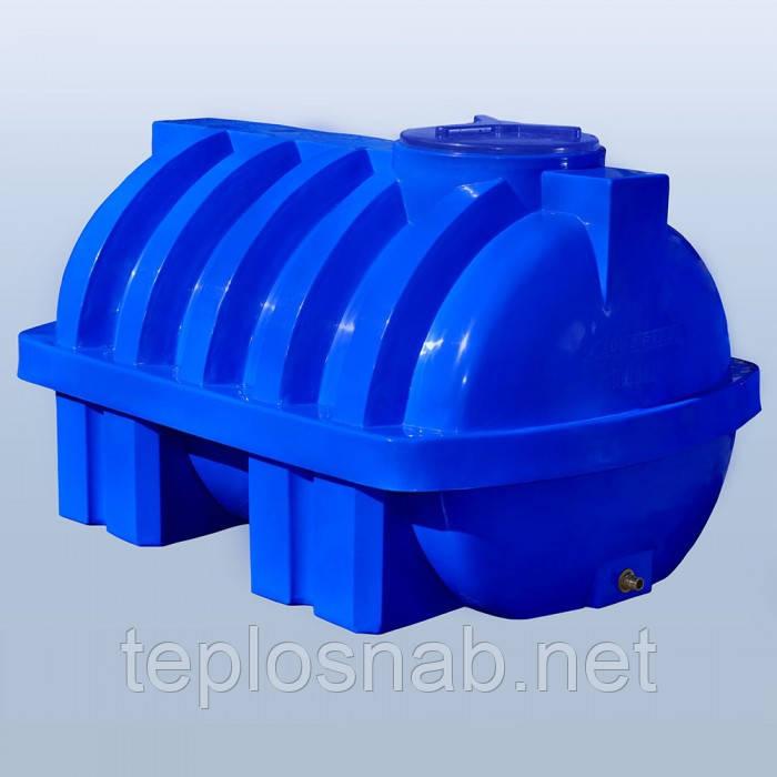 Пластиковый бак (емкость  горизонтальная) RG 1000 Р/ребро двухслойная