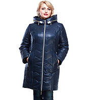 Пальто женское зимнее большие размеры=М-279 темно-синее