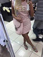 Стильное женское платье розовое Paparazzi Fashion в Украине