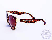 Женские брендовые солнцезащитные очки D&G Кошачий глаз - Леопардовые - 2017