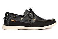 Мужские топсайдеры Timberland Men's Earthkeepers Boat Shoe Black (Тимберленд) черные