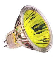 Лампа галогенная  MR16 12V/35W желтая