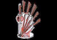 Набор ножей ТМ SWISS&BOCH (7 шт.) красного цвета