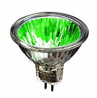 Лампа галогенная  MR16 12V/35W зеленая