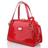 Красная лаковая сумка женская модная модель