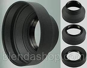 Универсальная резиновая бленда 49 мм - складная 3 в 1