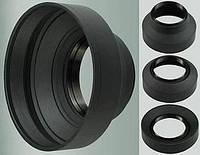 Универсальная резиновая бленда 49 мм - складная 3 в 1, фото 1