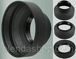 Універсальна гумова бленда 49 мм - складна 3 в 1