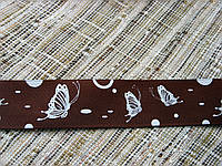 Лента репсовая с рисунком. Бабочки. 25 мм