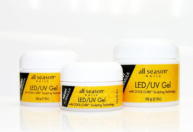 UV/LED гели All Season Nails обновленная формула