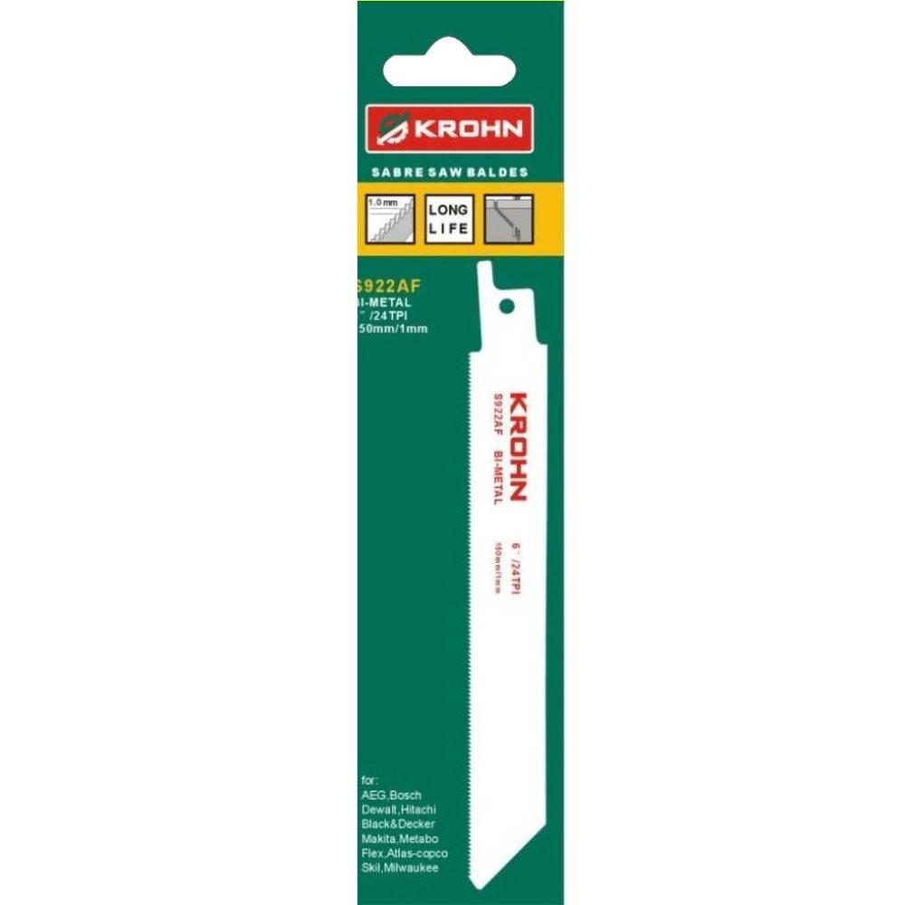 Набор полотен для сабельной пилы KROHN S922AF (5 шт.)