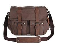Тканевая сумка + вставки из натуральной кожи 9002C, фото 1