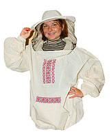 Куртка пчеловода Классика. Вышиванка. Бязь суровая. Размер L / 50-52