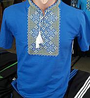 Футболки мужские с вышивкой оптом  316 САК, фото 1