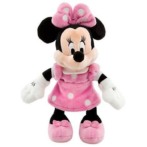 Плюшевая игрушка Минни Маус в розовом платье 24 см Дисней / Minnie Mouse Plush pink Disney