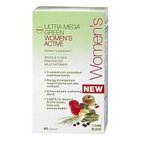 Витамины и минералы для женщин Ultra Mega Green Womens Active (60 caps)