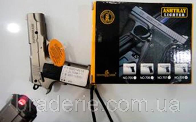 Зажигалка пистолет 3984, фото 2