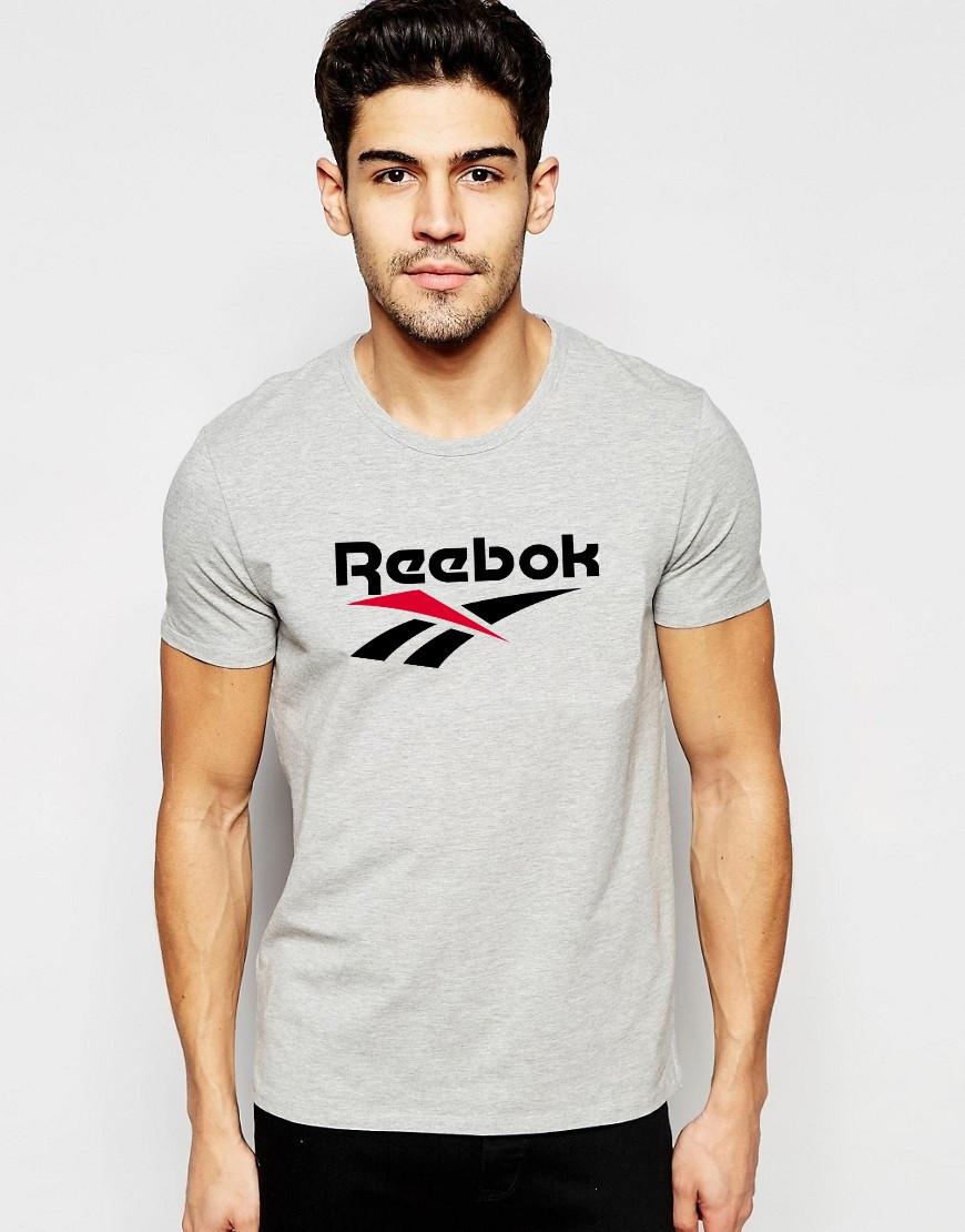 """Мужская футболка """"Reebok"""" серая"""