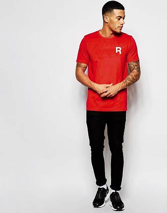 """Мужская футболка """"Reebok"""" красная с принтом, фото 2"""
