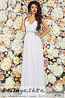Вечернее платье в пол Стелла белое