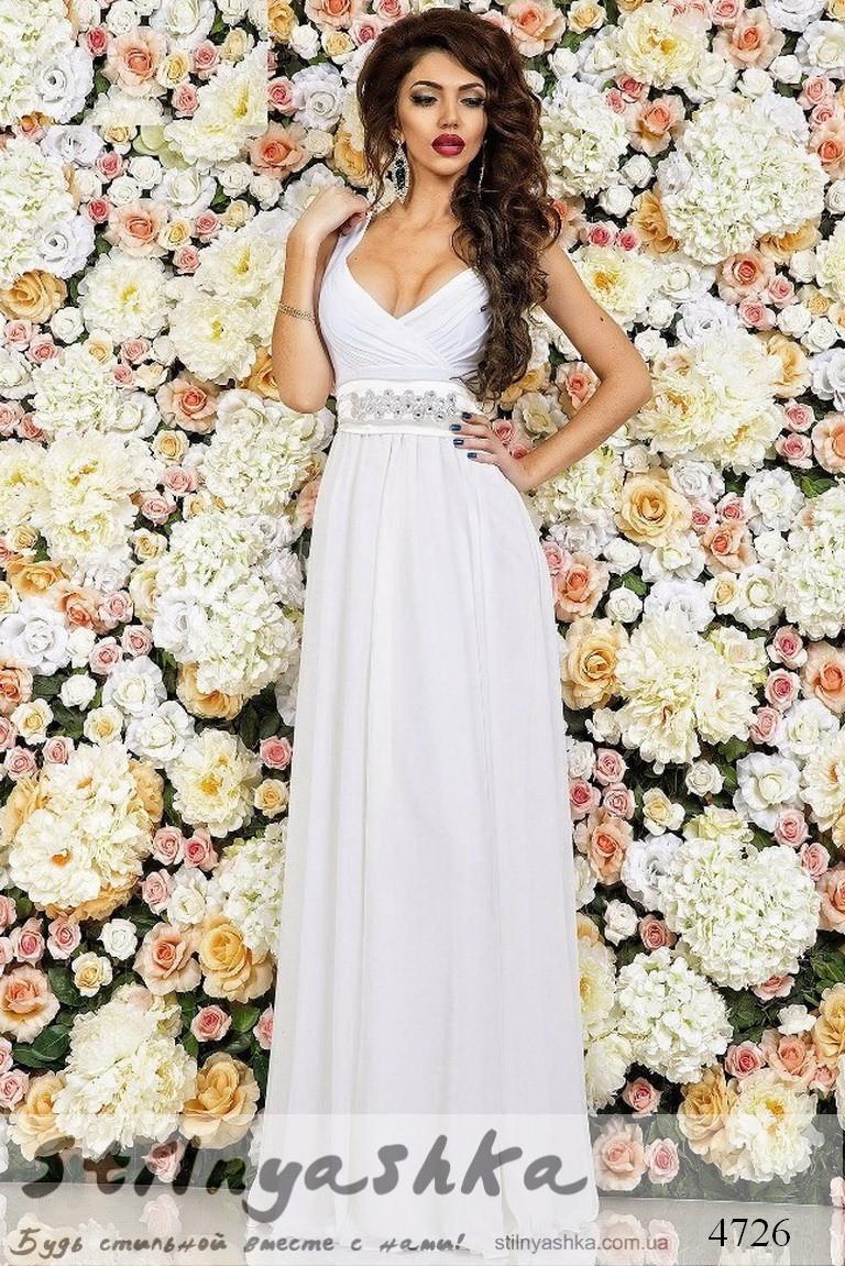 Купить Белое Вечернее Платья В Пол