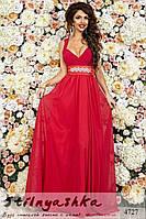 Вечернее платье в пол Стелла красное