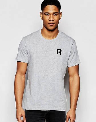 """Мужская футболка """"Reebok"""" серая с принтом, фото 2"""