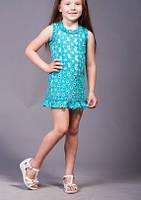 Платье «Ника», голубое