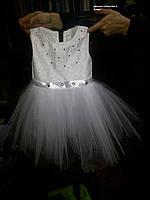 Детское платье нарядное белое на 92-98см