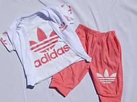 Детский Костюм  летний adidas  3-ка