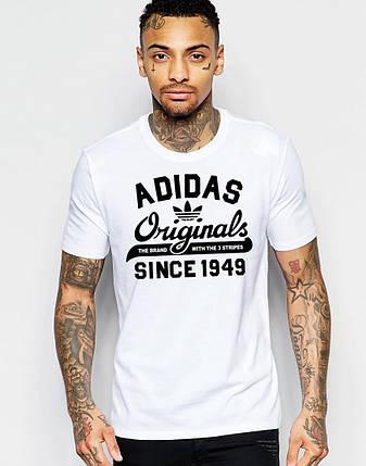 """Мужская футболка """"Adidas Original"""" белая, фото 2"""