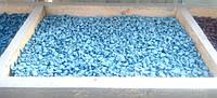 Декоративный цветной щебень (крошка, гравий) , светло голубой (09987)