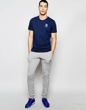 """Мужская футболка """"Adidas"""" т.синяя с принтом, фото 2"""