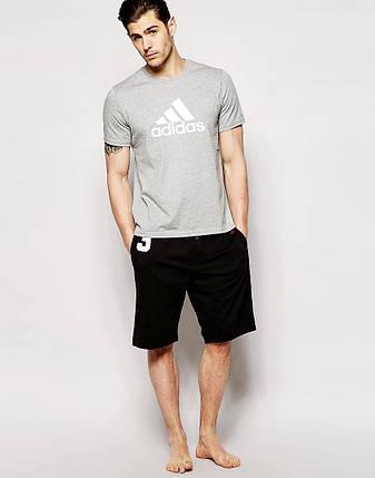 """Мужская футболка """"Адидас"""" серая, фото 2"""