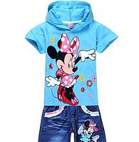 Детский Комплект Мики маус (футболка и джинсовые шорты)