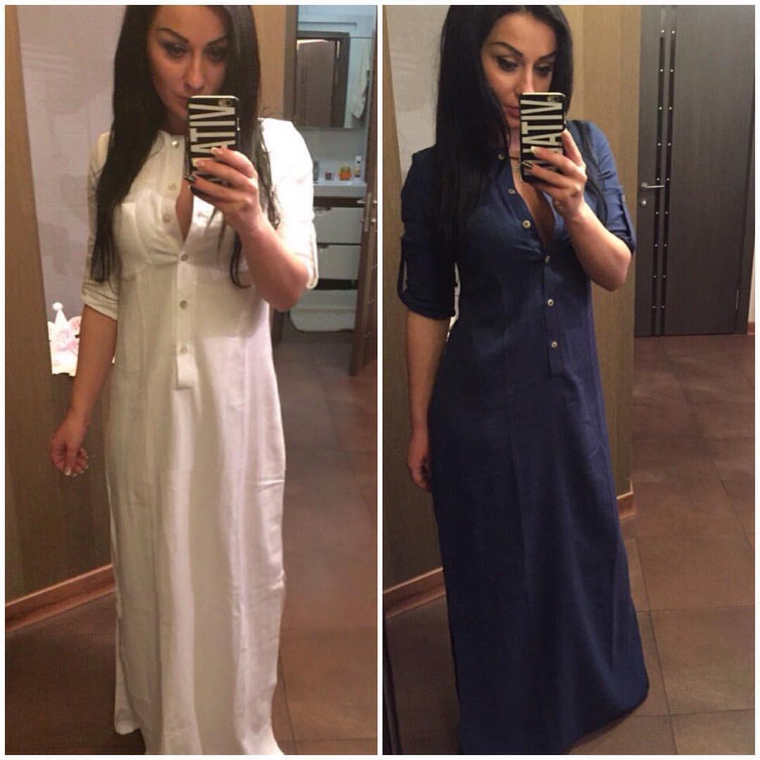 Рубашка платье женская длинная