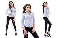 Рубашка женская стрейчевая в полоску P2158