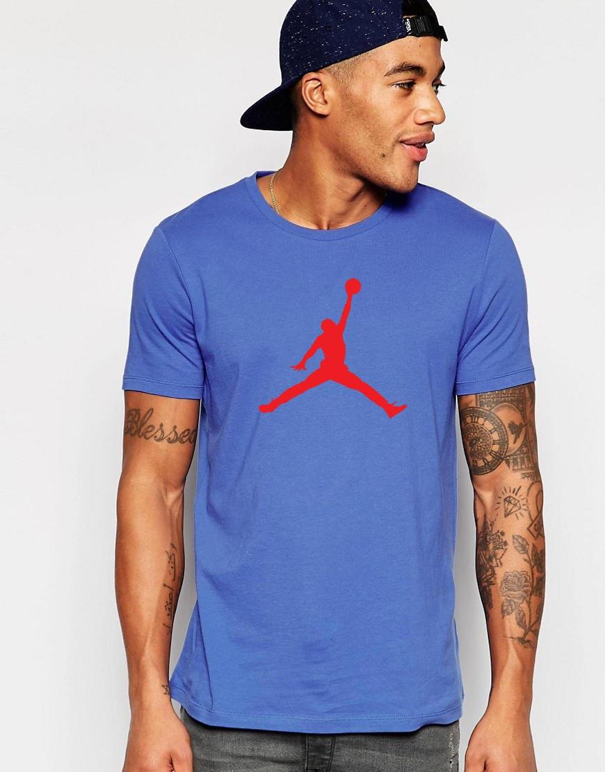 """Мужская футболка """"Jordan"""" синяя"""