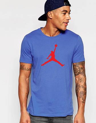 """Мужская футболка """"Jordan"""" синяя, фото 2"""