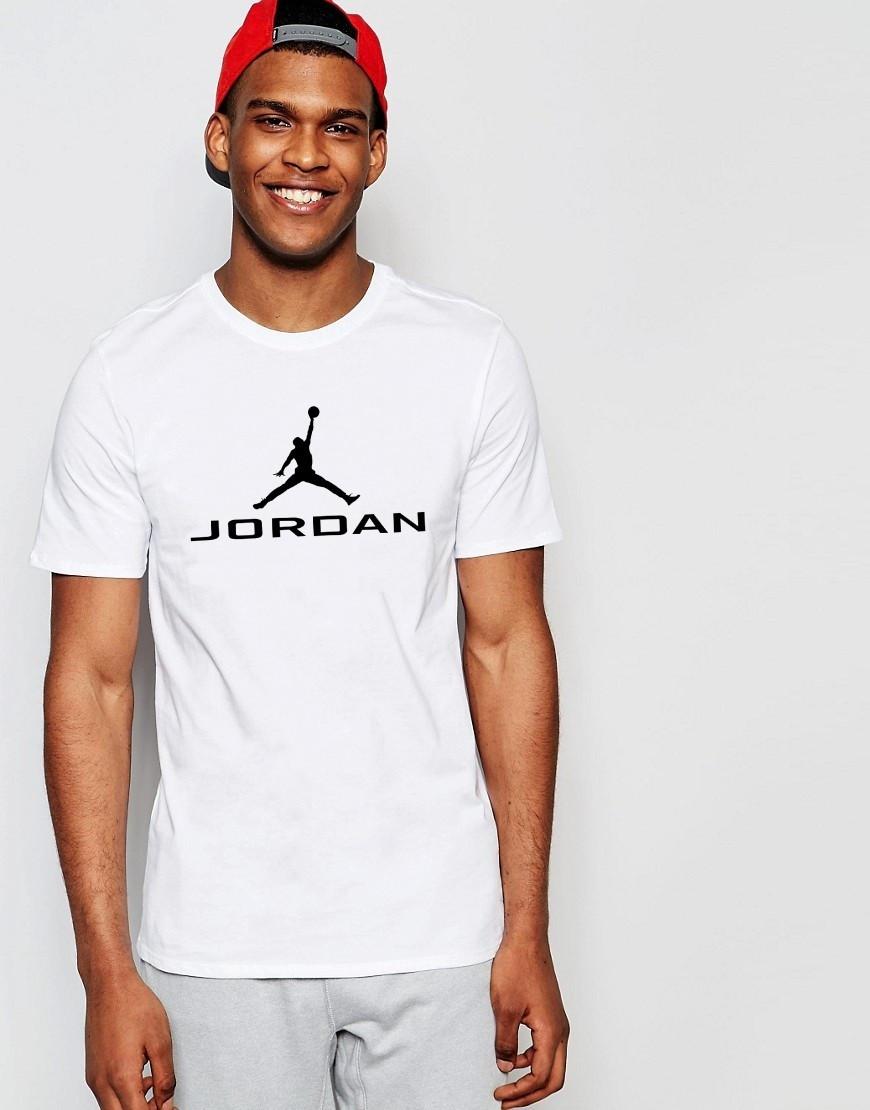 "Мужская футболка ""Jordan"" белая"
