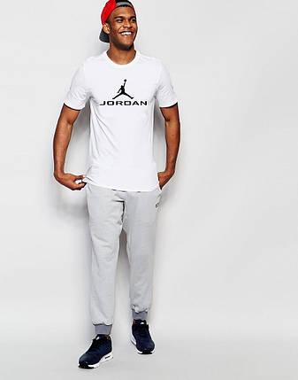 "Мужская футболка ""Jordan"" белая, фото 2"