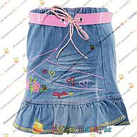 Джинсовая юбка для девочки с 2 до 7 лет производство Турция (4218)