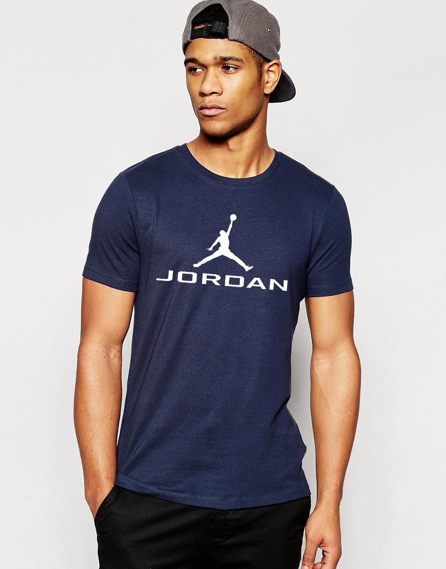 Мужская футболка Jordan ( с большим принтом)