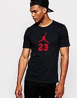 Мужская футболка  с принтом Джордан 23