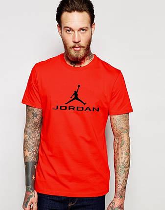 """Мужская футболка """"Jordan"""" красная ( с принтом), фото 2"""