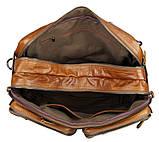Чоловіча шкіряна сумка трансформер, рюкзак, сумка 7014B, фото 2