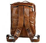 Чоловіча шкіряна сумка трансформер, рюкзак, сумка 7014B, фото 4
