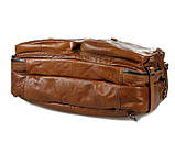 Чоловіча шкіряна сумка трансформер, рюкзак, сумка 7014B, фото 5