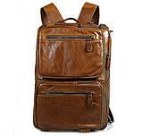 Чоловіча шкіряна сумка трансформер, рюкзак, сумка 7014B, фото 7